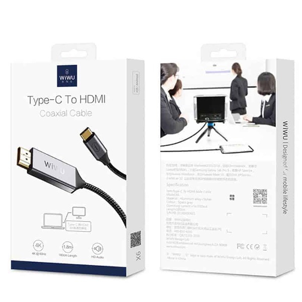 wiwu type c to hdmi cable